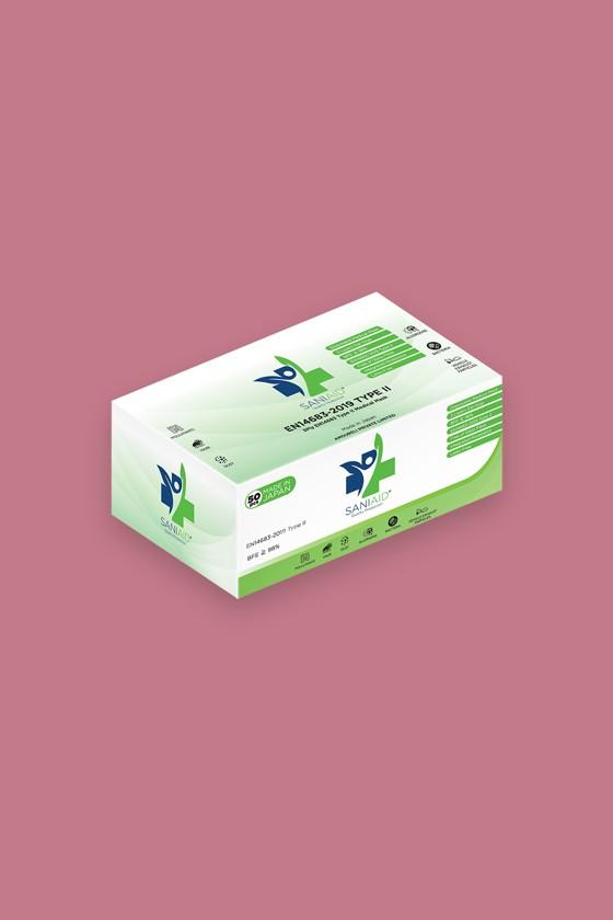 Saniaid EN14683 orvosi arcmaszk - Saniaid maszk - 50 db - 3 rétegű - Gyermek