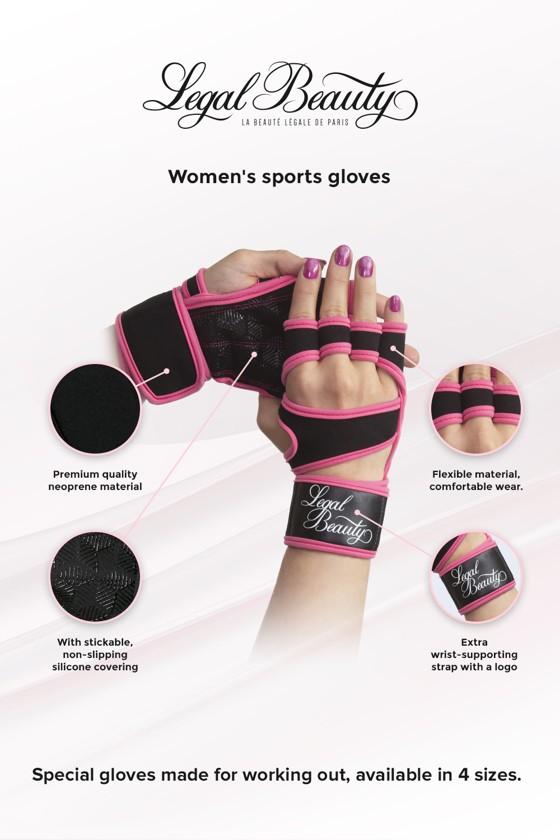 Women's sports gloves - Sports Gloves - Neon pink - S