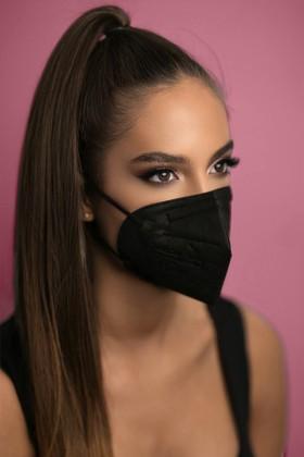 Legal Beauty FFP3 7-rétegű maszk (CE 0370) - Fekete - Szelep nélküli