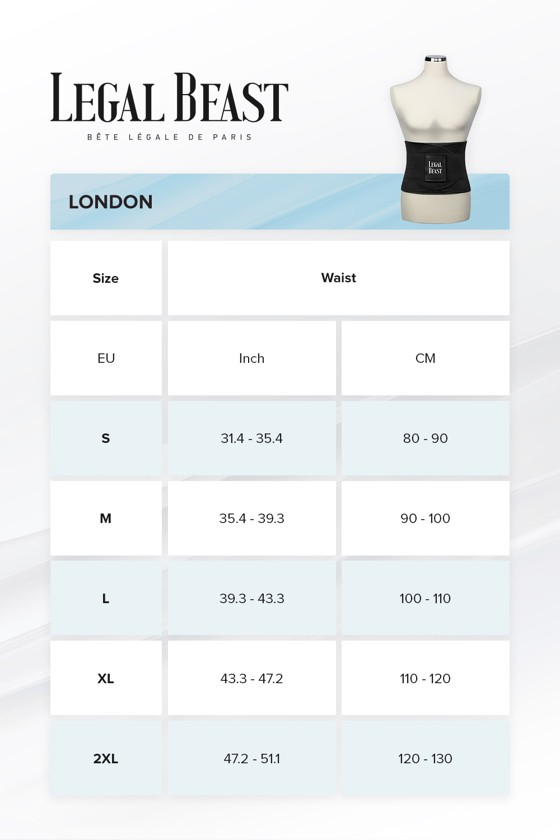 Legal Beast Men London - Sports Belt with Extra Waistband - Phantom black - M