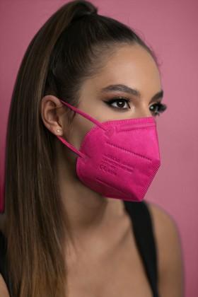 Jiada FFP2 CE 0370 szelep nélküli rózsaszín maszk - 20 db