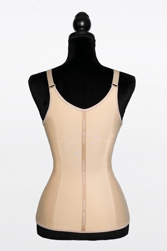 New York - Zipper Waist Trainer Vest - Toffee cream - XXS