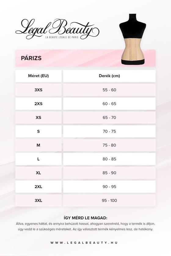 Párizs - Alakformáló fűző - Nude (testszínű) - XXS