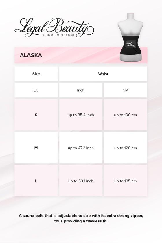 Alaska - Sauna belt - Jet black - S