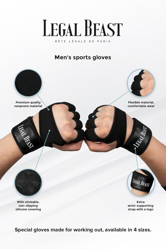 Legal Beast Men sports gloves - Sports Gloves - Phantom black - XL