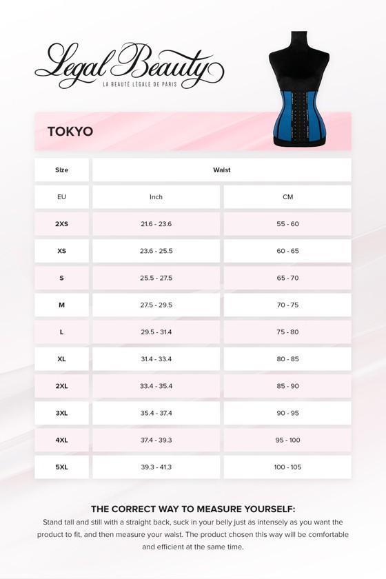 Tokyo - Breathable Waist Trainer - Sky blue - XXS