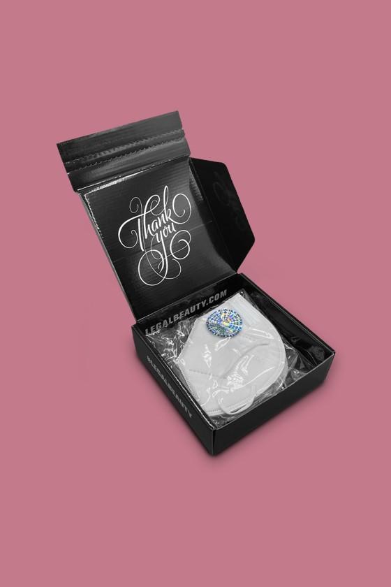 Legal Beauty KN95/FFP2 7 rétegű arcmaszk - Legal Beauty Arcmaszk - 5 db - Fehér - Szelep nélküli