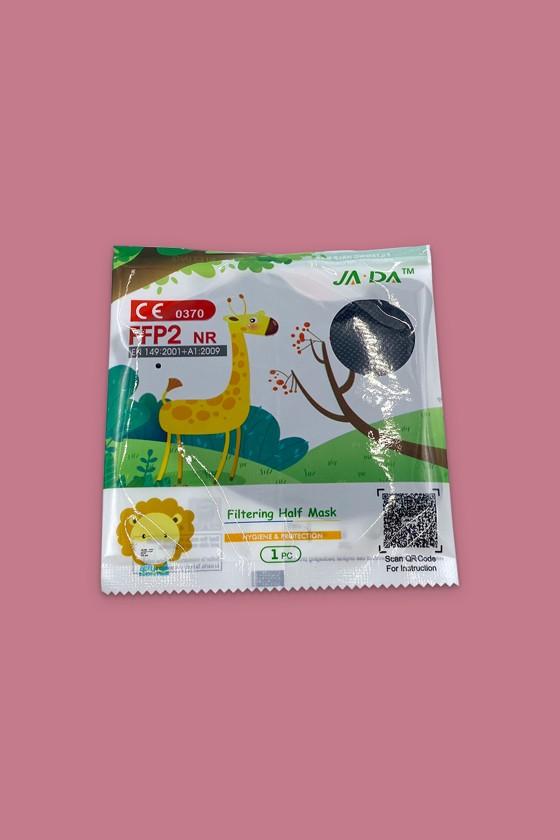 FFP2 szelep nélküli 5 rétegű arcmaszk - 5 rétegű arcmaszk - Fekete - Gyermek