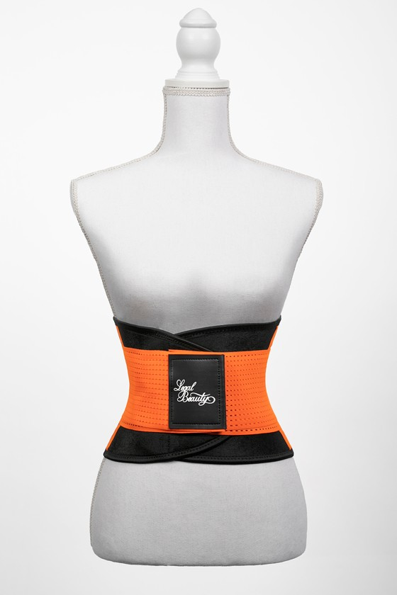 London - Sports Belt with Extra Waistband - Neon orange - S
