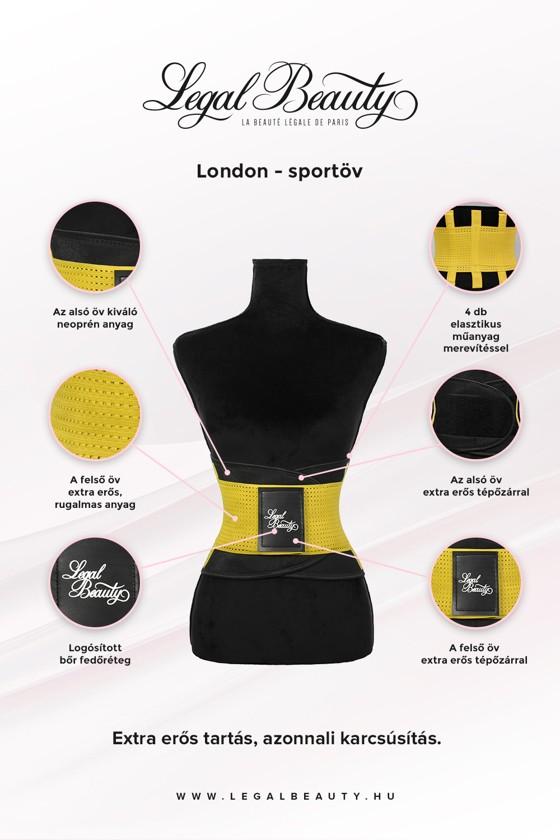 London - Sportöv extra derékpánttal - Napsárga - S