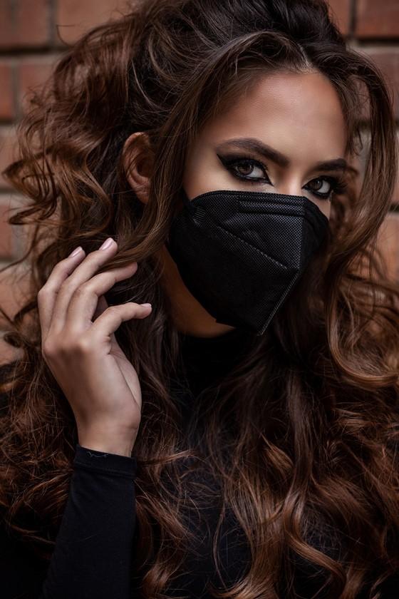 Legal Beauty KN95/FFP2 7 rétegű arcmaszk - Legal Beauty Arcmaszk - 5 db - Karbonfekete - Szelep nélküli