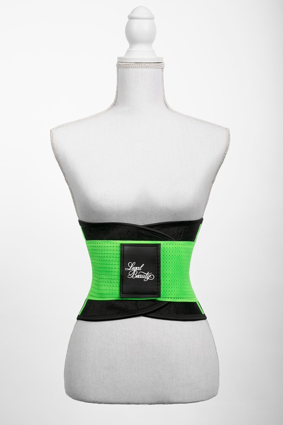 London - Sports Belt with Extra Waistband - Neon green - L