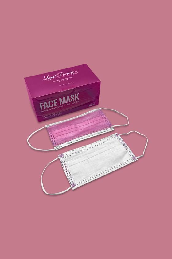 Legal Beauty 4 rétegű egészségügyi arcmaszk - 50 db - Arcmaszk - 50 db - Pink - Felnőtt