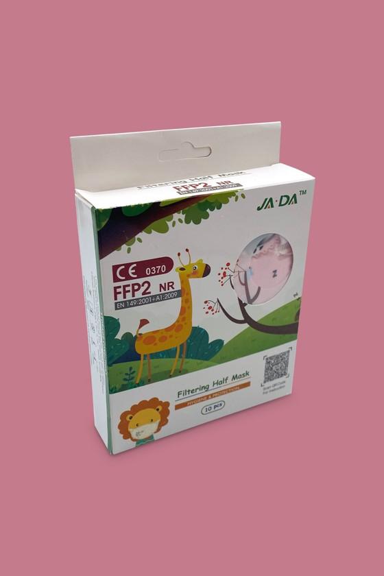 FFP2 szelep nélküli 5 rétegű arcmaszk - 5 rétegű arcmaszk - Pandás - Gyermek
