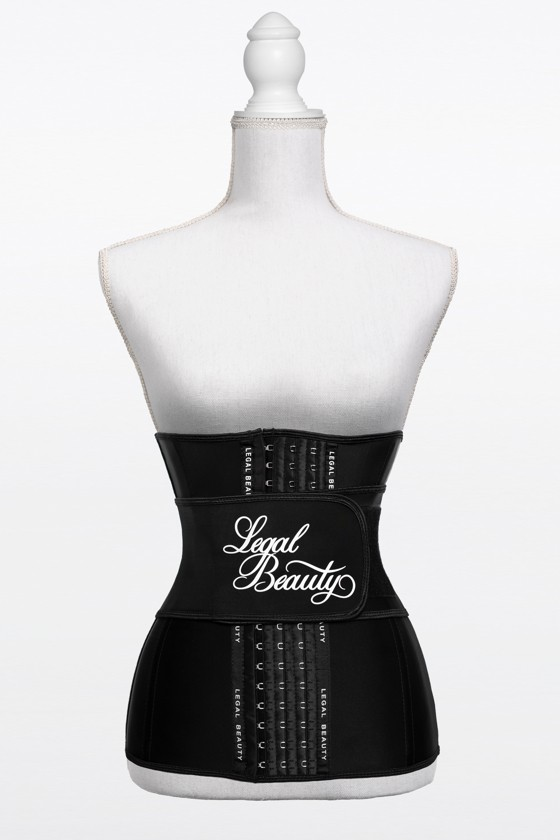 Los Angeles long torso - Waist Trainer with Waistband - Jet black - XS