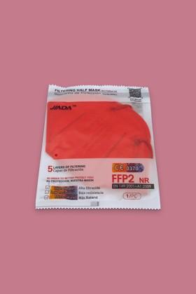 Jiada FFP2 CE 0370 - FFP2 maszk - 10 db - Piros - Szelep nélküli
